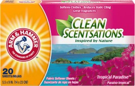 ARM & HAMMER™ Clean Scentsations™ Fabric Softener Sheets, Tropical Paradise (20sheets)