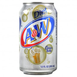 A & W Cream Soda Diet (355ml)