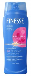 Finesse Restore + Strengthen Moisturizing, 2in1 Shampoo + Conditioner (384ml)