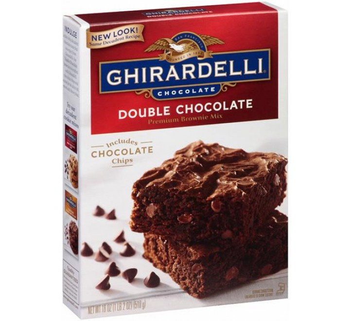 Ghirardelli Double Premium Chocolate Brownie Mix (510g)