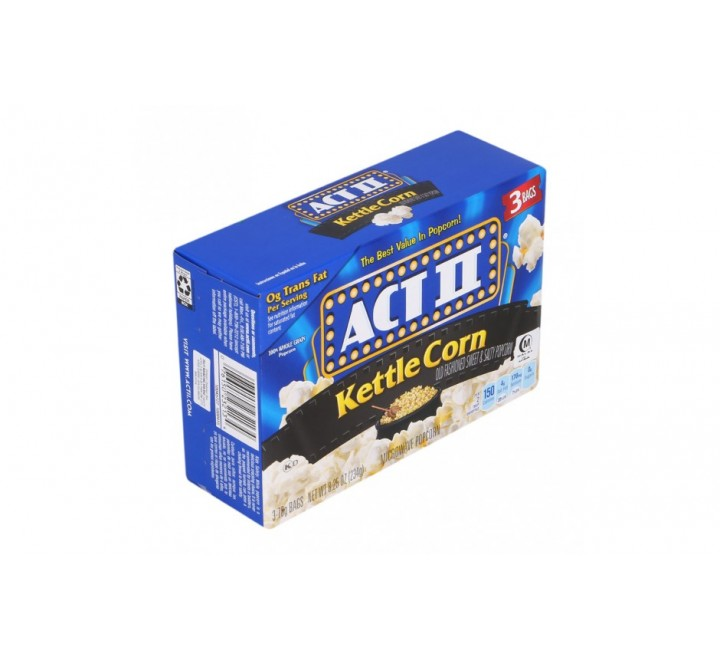 Act II Kettle Microwave Popcorn - 3 bags (234g)