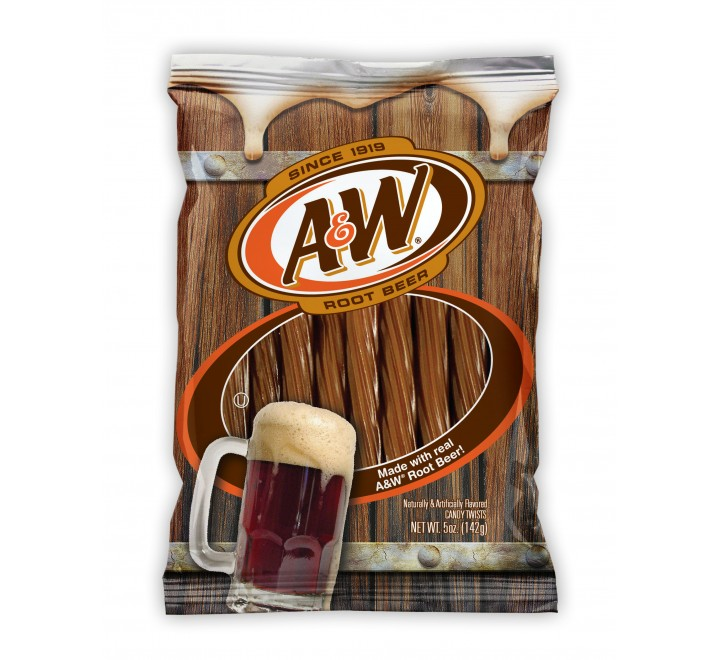 A&W Root Beer Candy Twists (142g)