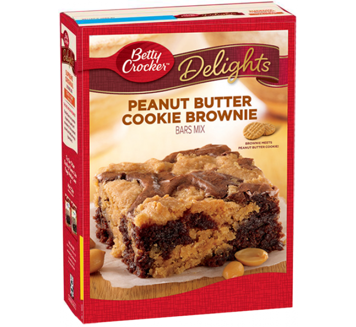 Betty Crocker Delights Peanut Butter Cookie Brownie Mix (487g)