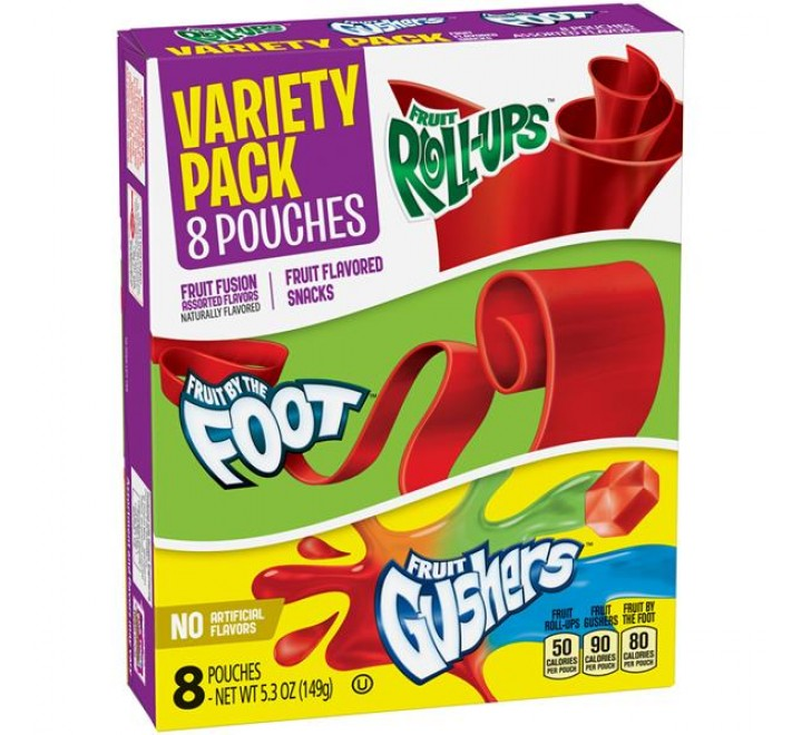 Betty Crocker Fruit Flavored Snack Variety Pack 8-Pouches (149g)