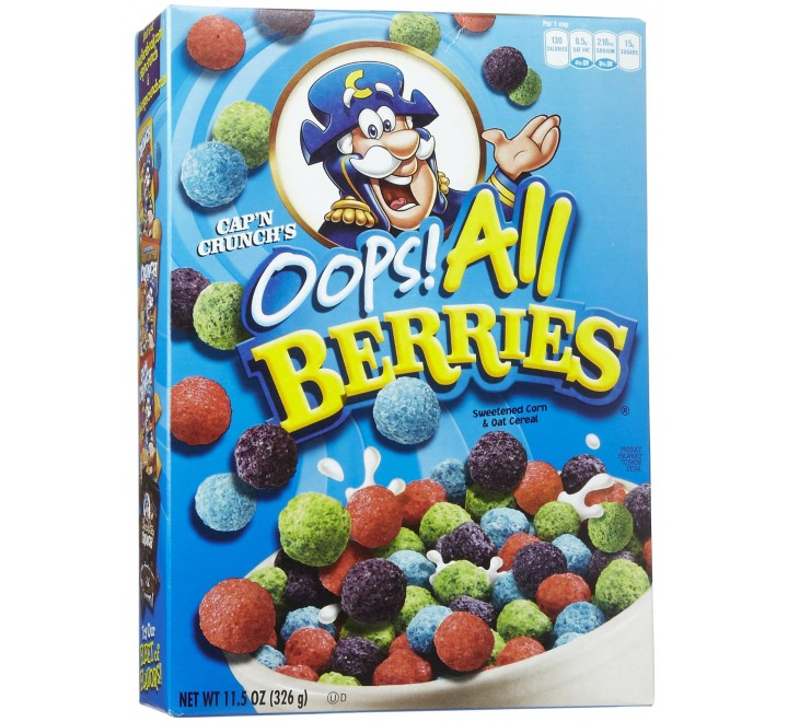 Cap N Crunch S Oops All Berries 326g It's time to drop the oops! and officially rebrand/rename the cereal as cap'n crunch's all berries. cap n crunch s oops all berries 326g