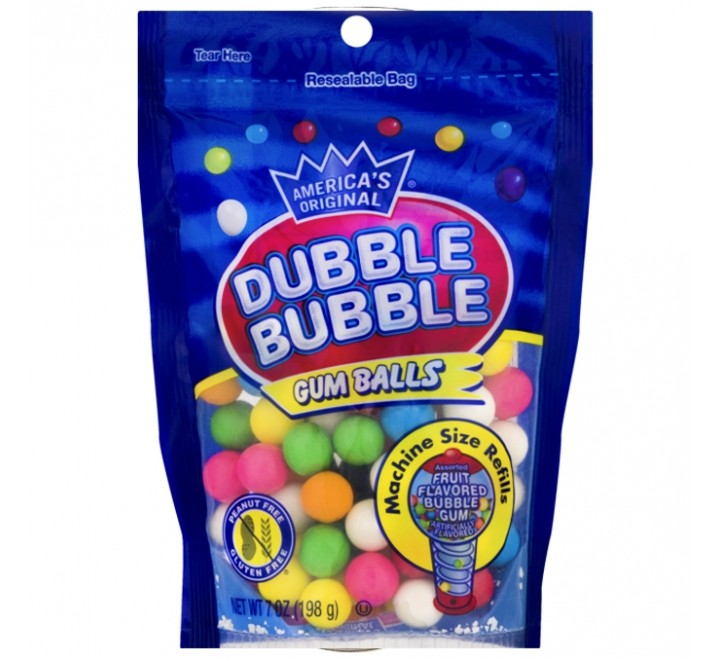 Dubble Bubble Gum Balls, Bag (198g)