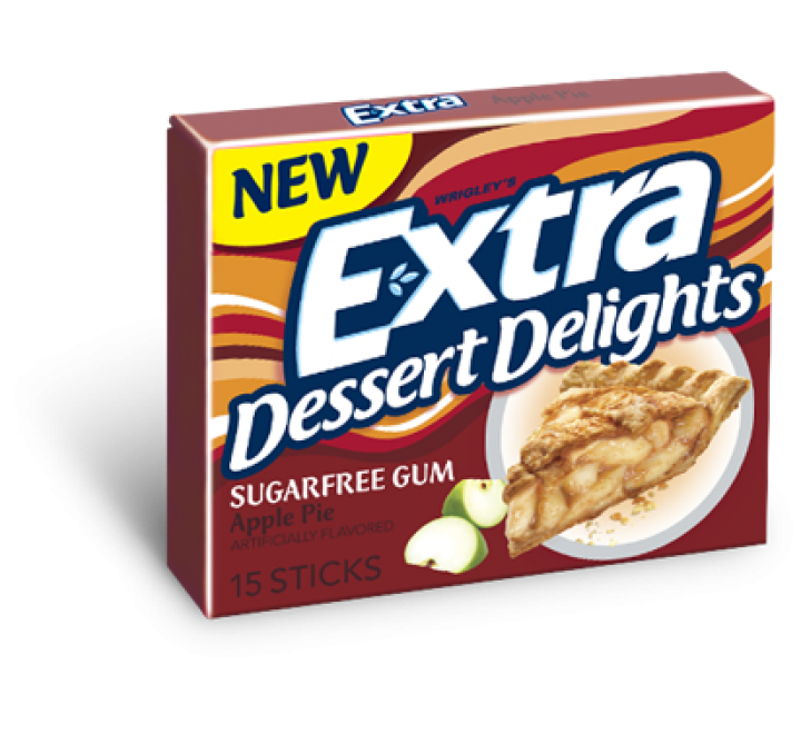 Extra Dessert Delights Apple Pie Sugar Free Gum