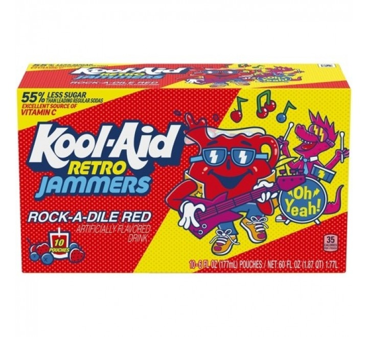 Kool-Aid Jammers, Rock-A-Dile Red Single Pouch (177ml)