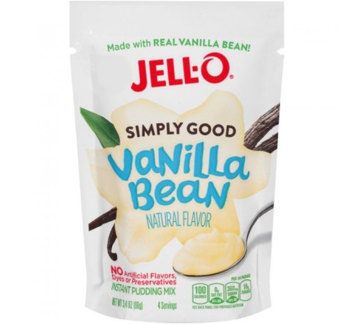 Jell-O Simply Good Vanilla Bean Instant Pudding Mix (96g) USfoodz