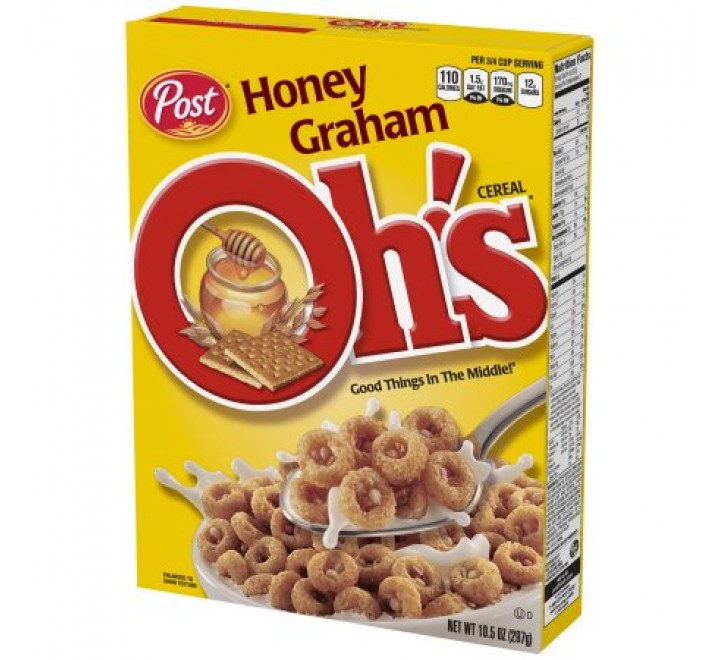 Post Honey Graham OH'S Cereal (297g)