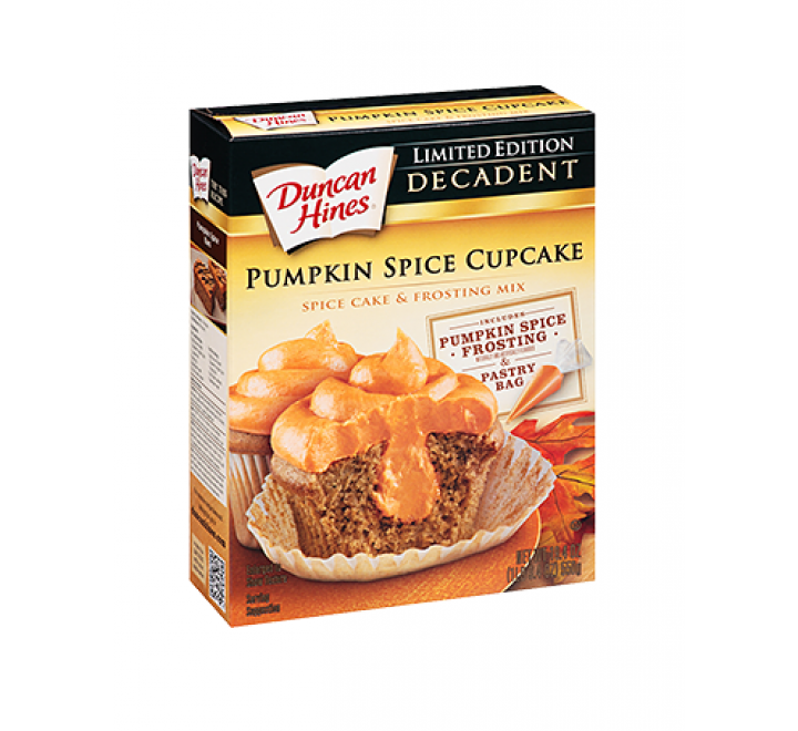Duncan Hines Decadent Limited Edition Pumpkin Spice Cupcake Mix (550g)