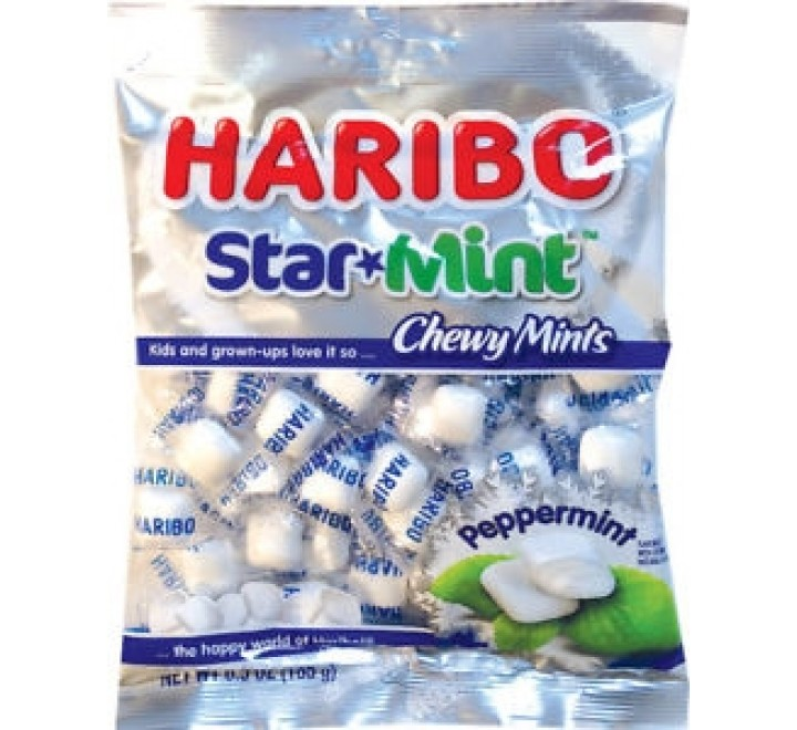 Haribo Star Mint Chewy Mints (200g)