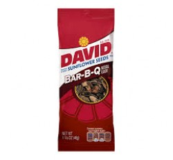 David Roasted & Salted Sunflower Seeds, Bar-B-Q Natural Flavor (46g)